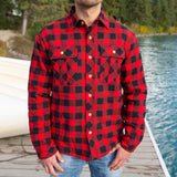 Sherpa Lined Flannel Shirt Mens Small Buffalo Check