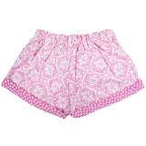 Shorts in Rococo with Contrast Star Print