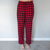 Easy Fit 2 Pc. Flannel Pyjamas in Medium Buffalo Check Red