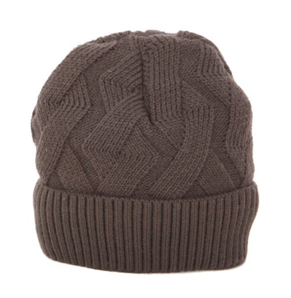 Winter Toque with Lining in Taupe