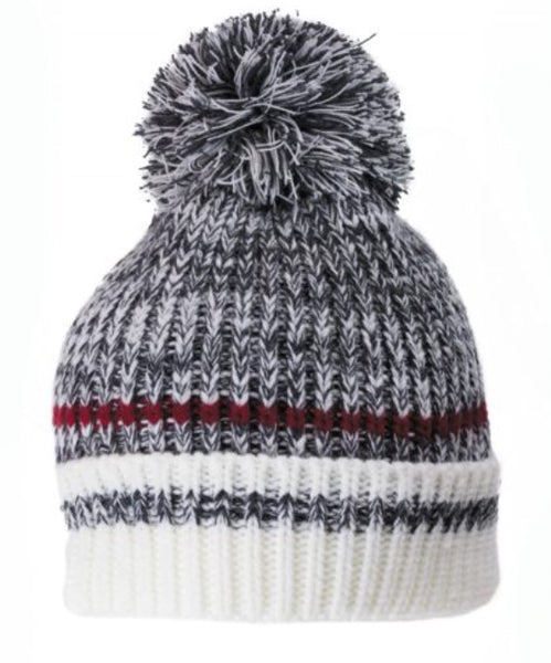 Dark Grey Tone Work Pompom Toque