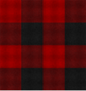 1003/ Woman's Long Flannel Nightshirt / Large Buffalo Check in Red/Black