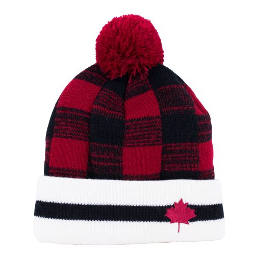 Buffalo Check Canada Pompom Toque