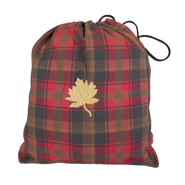 Maple Leaf Tartan Embroidered Bag