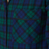 Rocky Mountain Flannel Flannel Knee Length Nighshirt with Black Braid Cord in Black Watch Pocket View