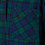Rocky Mountain Flannel Long Flannel Nightshirt in Black Watch Pocket View