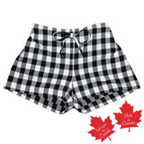 Shorts in Black White Small Buffalo Check