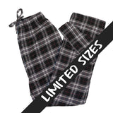 Mens Flannel Lounge Pant / Black