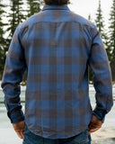 412 Faded Blue Buffalo Check Men's Flannel Shirt