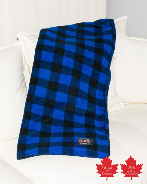 Blue Buffalo Check Fleece Blanket