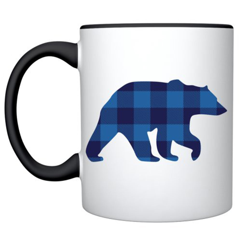 Mug in Blue Buffalo Check/ Bear