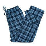 Mens Flannel Lounge Pant / Blue Navy Plaid