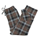 Mens Flannel Lounge Pant / Brown Grey Plaid