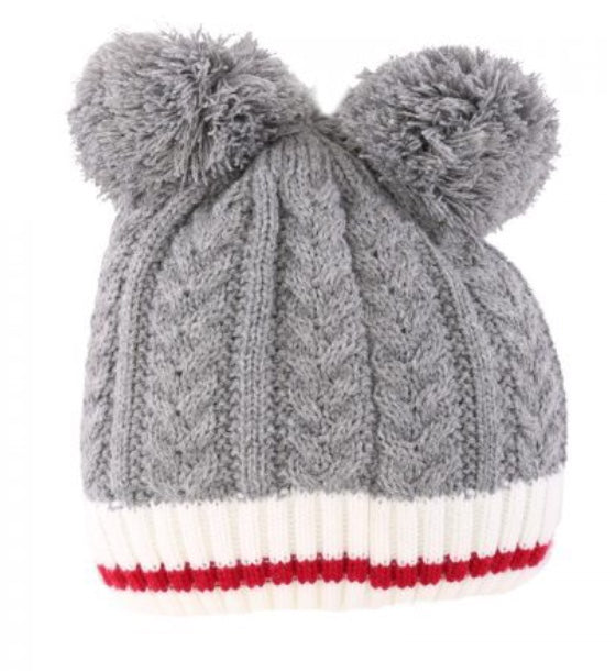 Kids Work Toque with Double Pompom