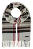 Classic Oversized Plaid Scarf in Beige