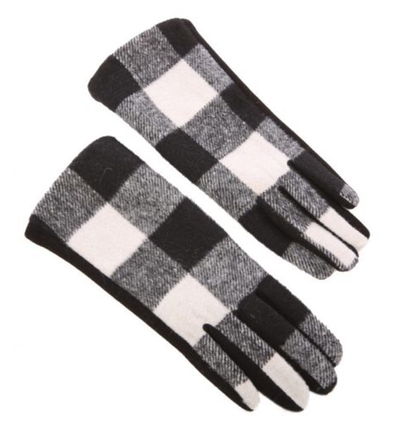 White Buffalo Check Ladies Winter Glove
