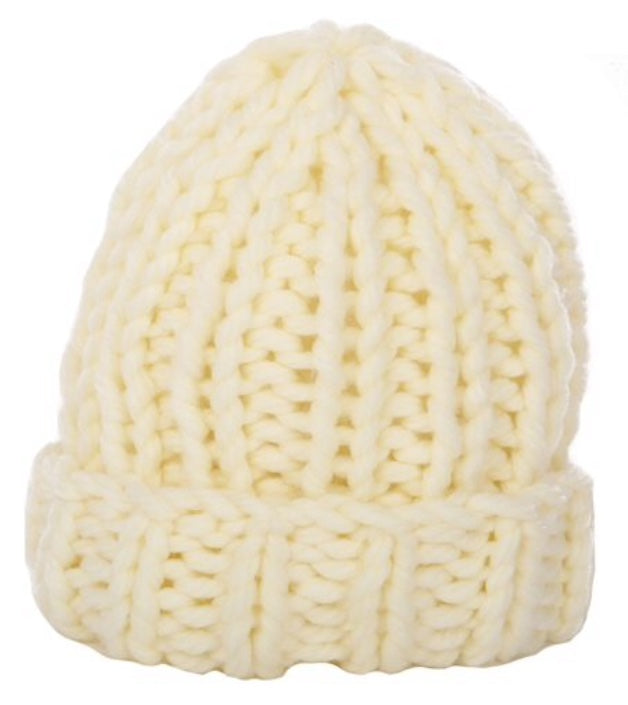 Chunky Knit Toque in Ivory