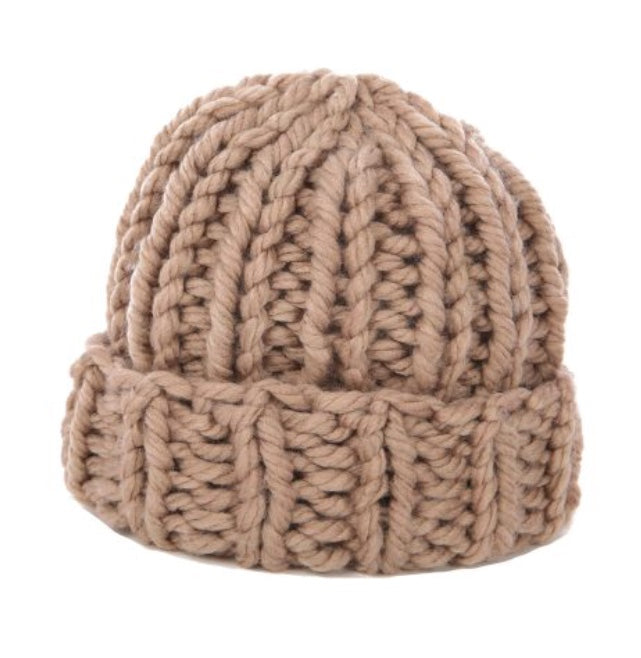 Chunky Knit Toque in Taupe