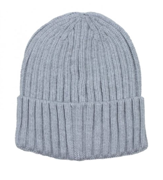 Ribbed Knit Toque in Grey