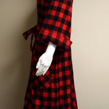 Kimono Flannel Robe Red Buffalo Check