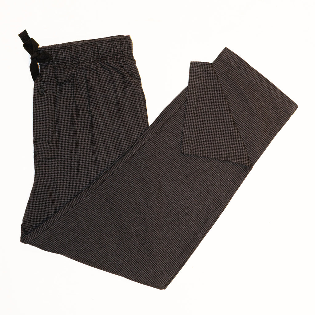 Men's Flannel Lounge Pant / Dark Grey Houndstooth