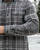412 Grey and Pink Men's Flannel Shirt