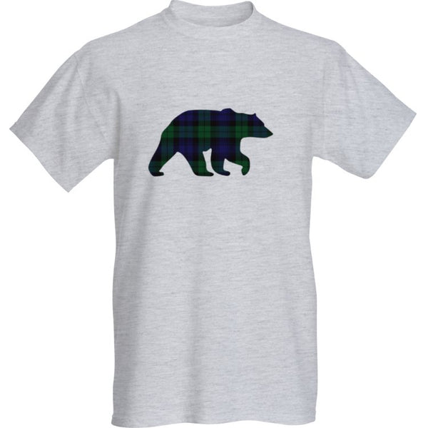 Grey Blackwatch Bear T-Shirt