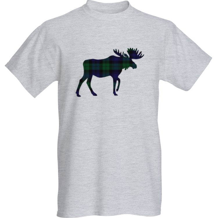 Grey Blackwatch Moose T-Shirt
