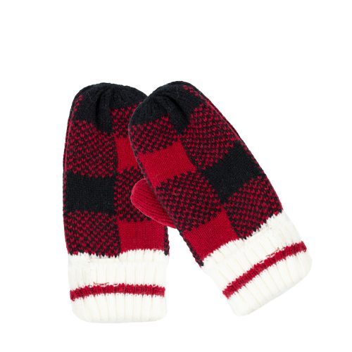 Kids Buffalo Check Winter Mittens