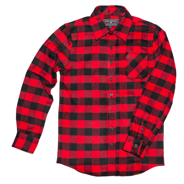 Kids Red Black Buffalo Check Shirt