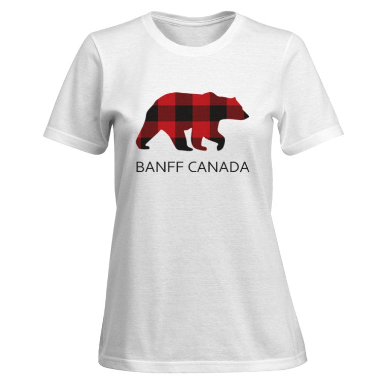 Ladies Bear T-Shirt With Banff Canada