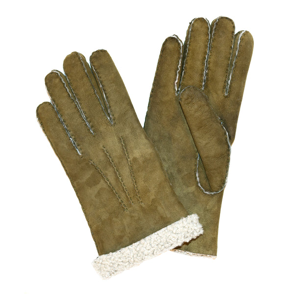 Ladies Sueded Lambskin Gloves Green