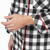 Rocky Mountain Flannel Classic 2 Pc Flannel Pyjamas in Large Buffalo Check Cuff Sleeve View