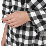 Rocky Mountain Flannel Easy Fit 2 Pc. Flannel Pyjamas with Loon Logo in Large Buffalo Check Cuff Sleeve View