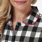 Rocky Mountain Flannel Easy Fit 2 Pc. Flannel Pyjamas in Large Buffalo Check Neckline View