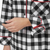 Rocky Mountain Flannel Long Flannel Nightshirt in Large Buffalo Check Cuff Sleeve View