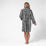 Rocky Mountain Flannel Knee-Length Flannel Nighshirt in Large Buffalo Check Back View