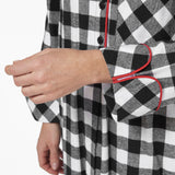 Rocky Mountain Flannel Knee-Length Flannel Nighshirt in Large Buffalo Check Cuff Sleeve View