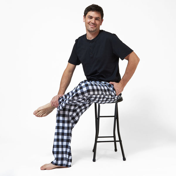 Rocky Mountain Flannel Men's Flannel Lounge Pant in Large Buffalo Check Lounge View