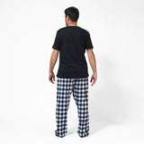 Rocky Mountain Flannel Men's Flannel Lounge Pant in Large Buffalo Check Back View