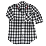 Easy Fit Nightshirt in Large Black/White Buffalo Check