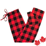 Flannel Lounge Pant in Large Buffalo Check Red