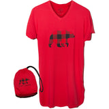 Red Bear Nightshirt in a Bag