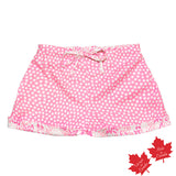 Shorts in Pink Stars with Contrast Cheetah Print