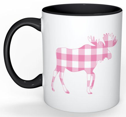 Mug in Pink Buffalo Check / Moose