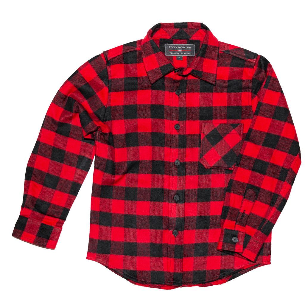 Pre School Red Black Buffalo Shirt