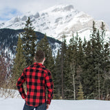 Unisex Flannel Shirt in Red Buffalo Check