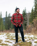 412 Red and Brown Men's Flannel Shirt