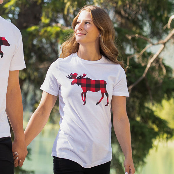 Ladies Red Moose T-Shirt