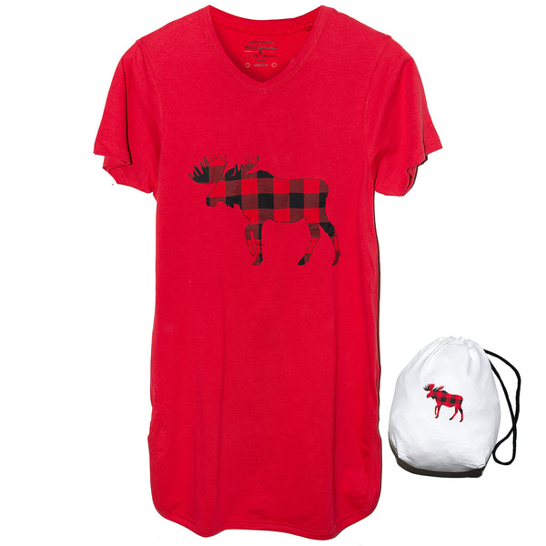 Red Moose Nightshirt in a Bag
